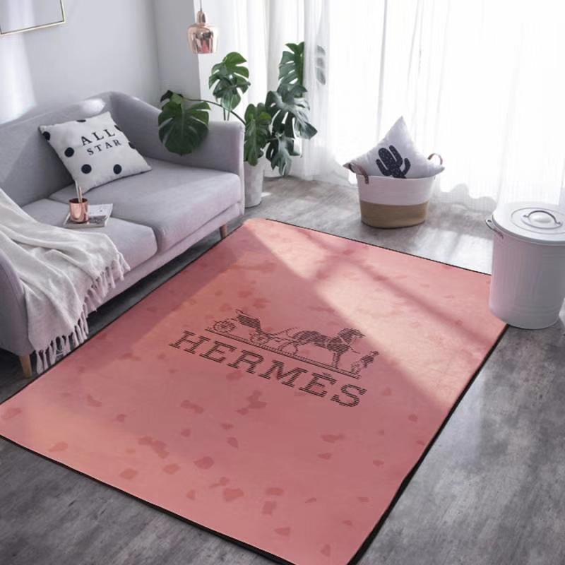 Tappeto di lusso rosa di design a cavalli Tappeto nero a strisce con logo H  Sala riunioni Tappeti di marmo in agata morbida di marca