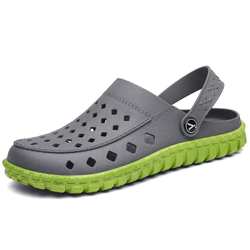 3cd5bd8c0 Summer Sandals Men Casual Shoes Breathable Outdoor Slippers Men Hole Beach  Sandals Flat Platform Clogs Antiskid Sandalias Hombre Purple Shoes Ladies  ...