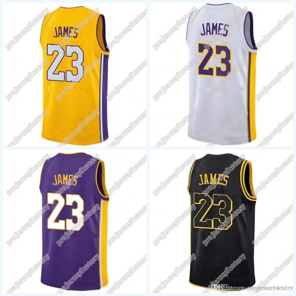 san francisco cb908 ecdd3 Los Angeles 23 LeBron James Jersey For Mens Womens Youth 2018 NEW LeBron  James GOLD Yellow Purple White Black The City Basketball Jerseys