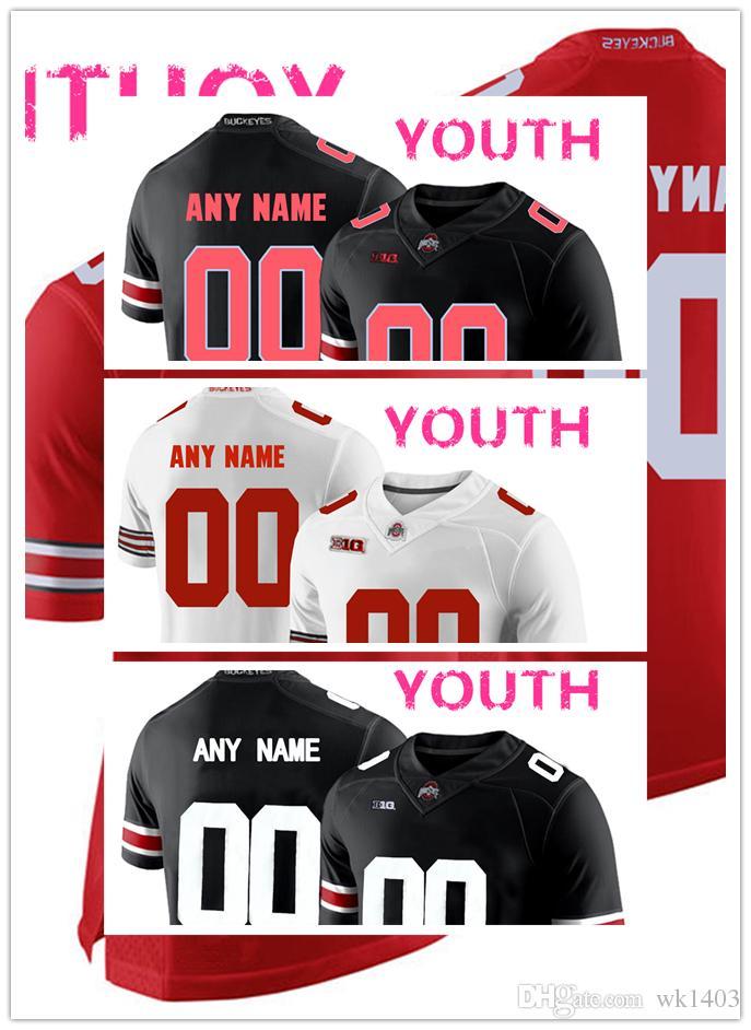 4e60ecbef19 2019 NCAA Ohio State Buckeyes OSU Jerseys Justin Fields 1 Dwayne Haskins 7  J.K. Dobbins 2 Jersey MEN WOMEN YOUTH Black Red White Football Jersey From  Wk1403 ...