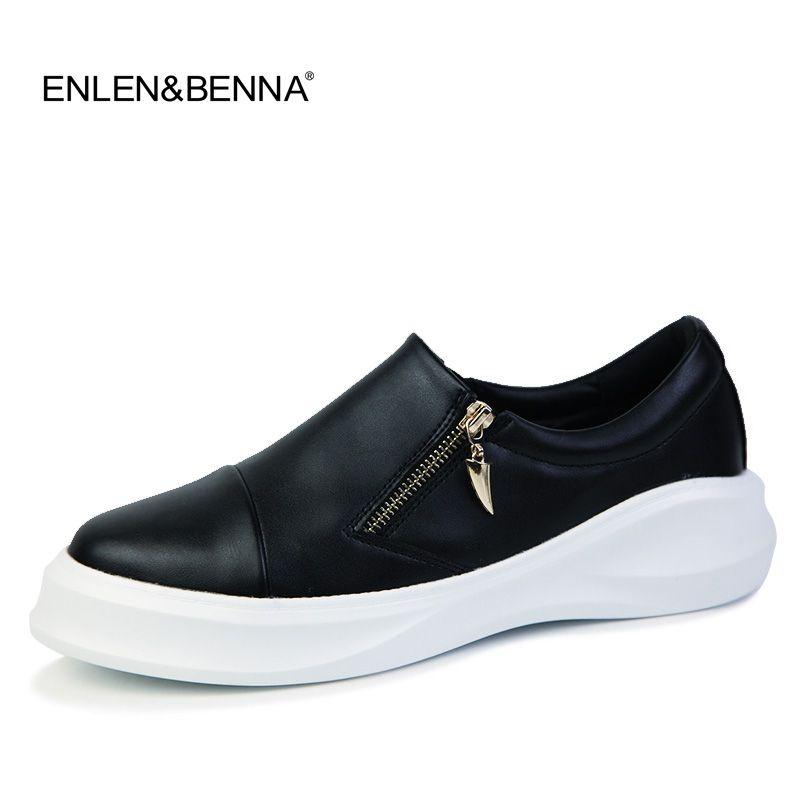 9c53f6db2d 2019 Platform Leather Shoes Casual Men Shoes Fashion Men Flats ...