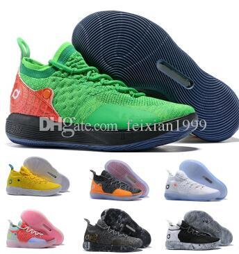 c18c30b4a55a Mens Kd 11 11s Basketball Shoes Sneakers 2019 Red Multi Still Eybl BHM Kevin  Durant XI Oero Foam Man Sports Trainer Chaussure Shoes Basketball Sneakers  ...