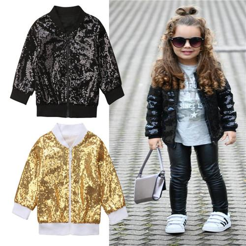 932a32f08 6M 5Y Toddler Infant Kids Baby Girls Autumn Sequins Glitter Zipper Warm  Long Sleeve Coat Outerwear Jacket Baby Clothes Outfits Boys Winter Jackets  On Sale ...