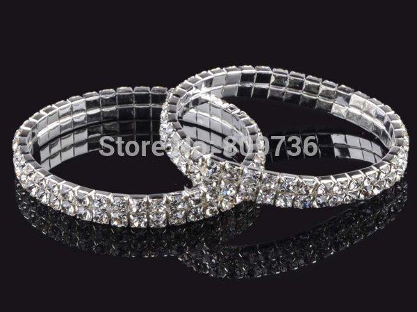 4 5 8 Linhas De Casamento Pulseira De Noiva Cristal Multicolor Diamante Strass Pulseira Trecho Pulseira Mulheres Charme Jóias Presente