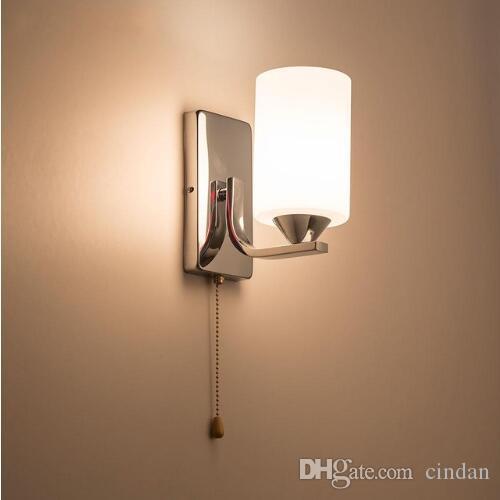 Murale Intérieur Éclairage Modernes Mont Applique Murales Chevet Lampe De E27 Appliques Luminaria Light Murs HDE2IW9