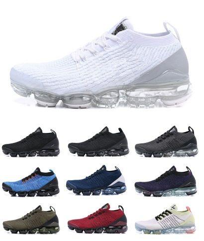 2019 2019 Shoes Designer Shoes Sneakers Steam Air Cushion Black Mesh