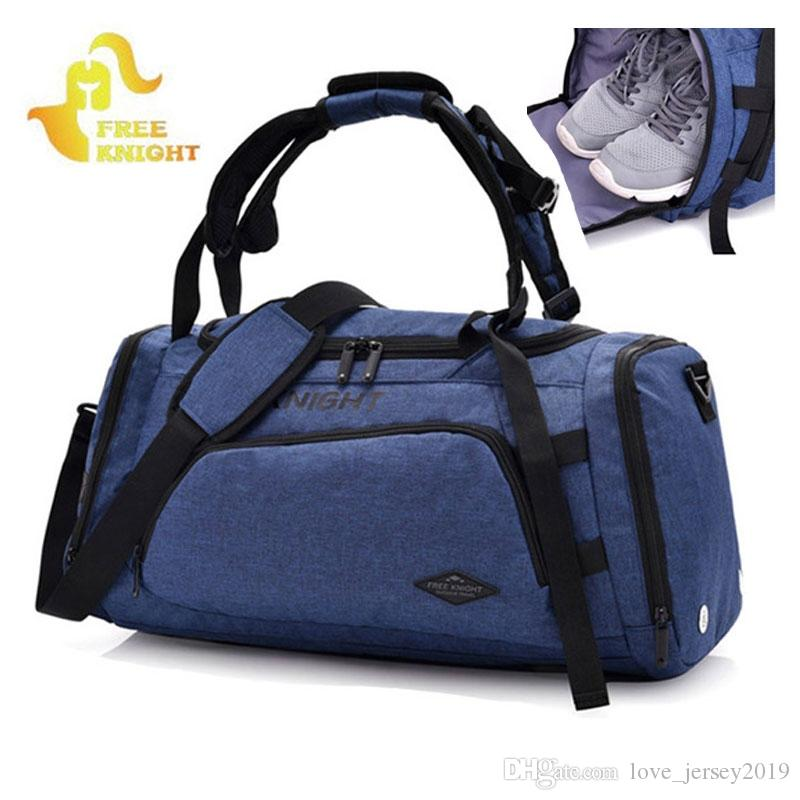 070b532b43 2019 2018 New Shoulder Sports Gym Bag For Fitness With Shoes Storage And  Dry Wet Separation Bag Outdoor Travel Backpack XA679WD  109950 From  Love jersey2019 ...