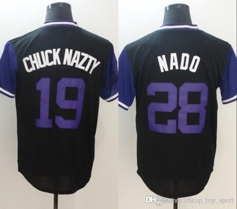 online store 4279d f3ae9 2018 Player Weekend Colorado 19 Charlie Blackmon Chuck Nazty 28 Nolan  Arenado Nado Blank No Name Black Nickname Baseball Jerseys