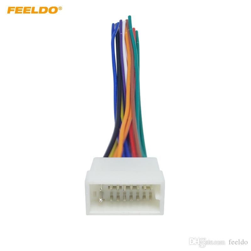 FEELDO Car 16pin Fio Conector Do Cabo Feminino Conector Para Clarion Car Radio Stereo Aftermarket # 1670