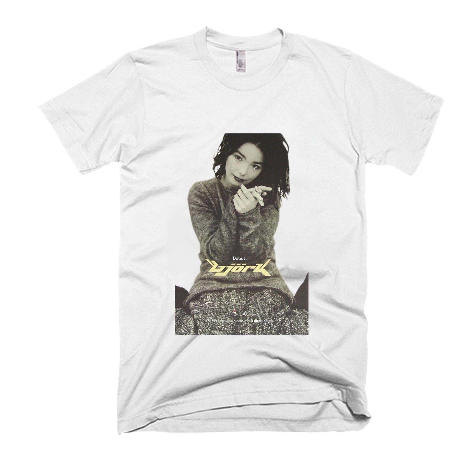 Bjork Pose Cute Men s / Women s T Shirt free shipping tee Chinese Style  Summer Short Sleeve Casual Hot Cheap Short Sleeve Male
