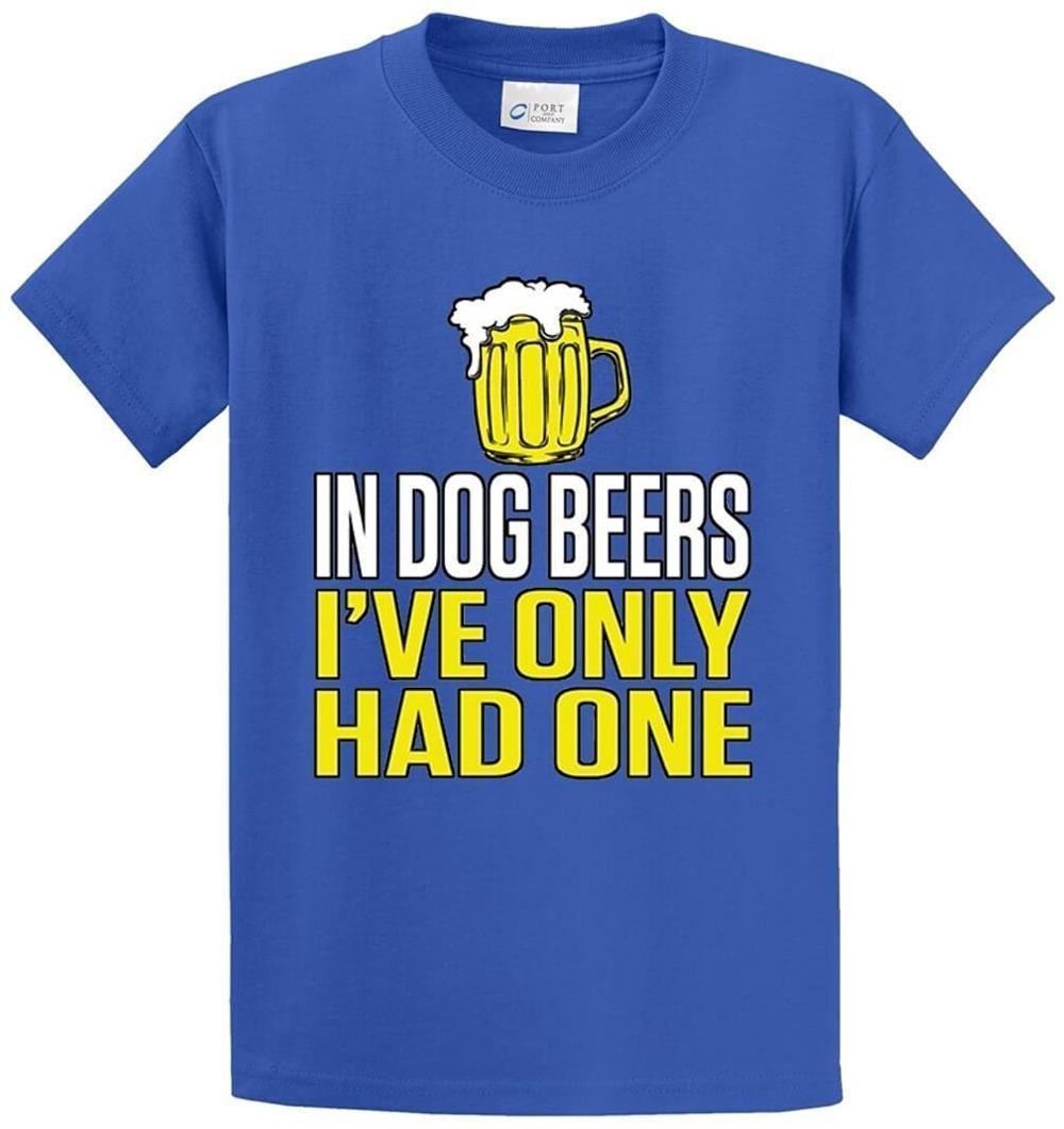 Quality T Shirts Printing T Shirt Short Sleeve Short In Dog Beers