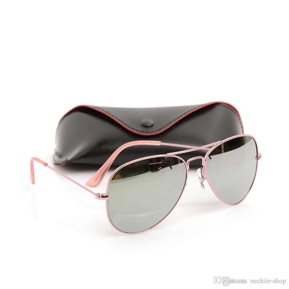 51f7fe5a5 Compre Top Quality Classic Óculos De Sol Mans Óculos De Sol New Womans Óculos  Óculos De Sol Piloto De Marca Óculos De Sol De Designer De Marca Com Caixas  ...