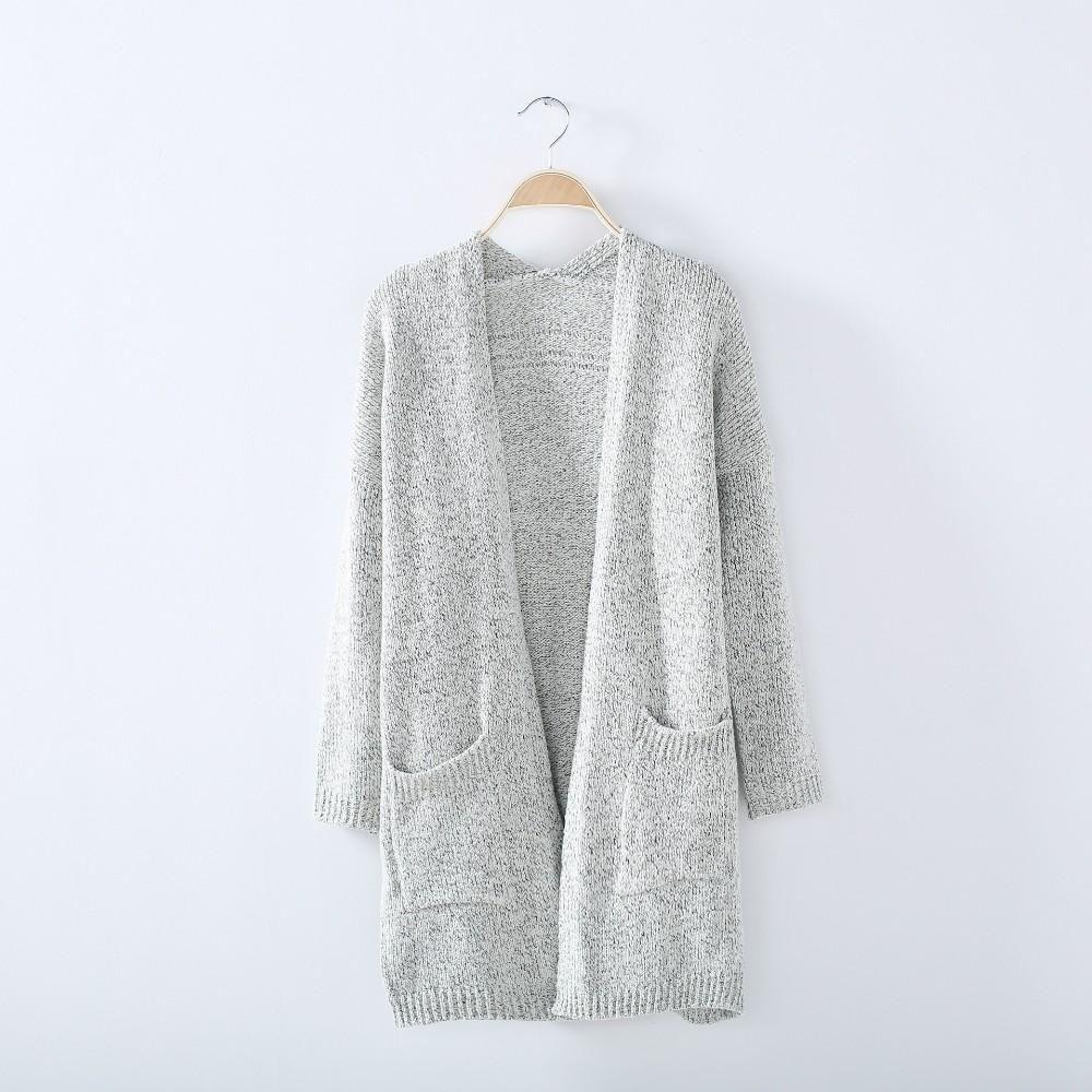 Mysautumn Winter Fashion Women Long Sleeve Loose Knitting Cardigan