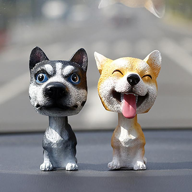Automobiles & Motorcycles Cute Car Accessories For Automobiles Dashboard Decoration Shaking Head Toys Nodding Dog Auto Interior Ornaments Doll For Girls Discounts Sale