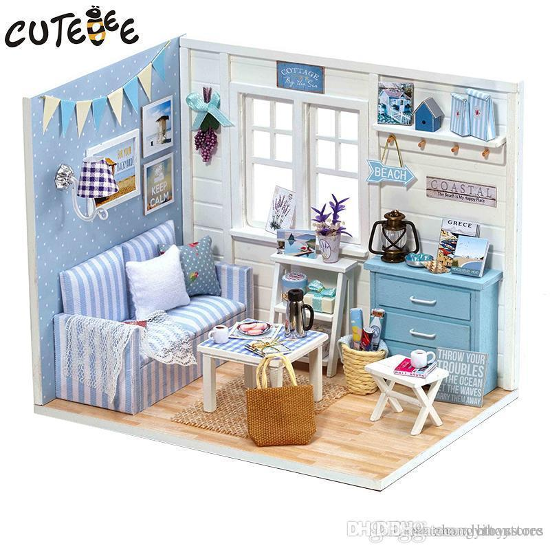 Wholesale Doll House Furniture Diy Miniature Dust Cover 3d Wooden
