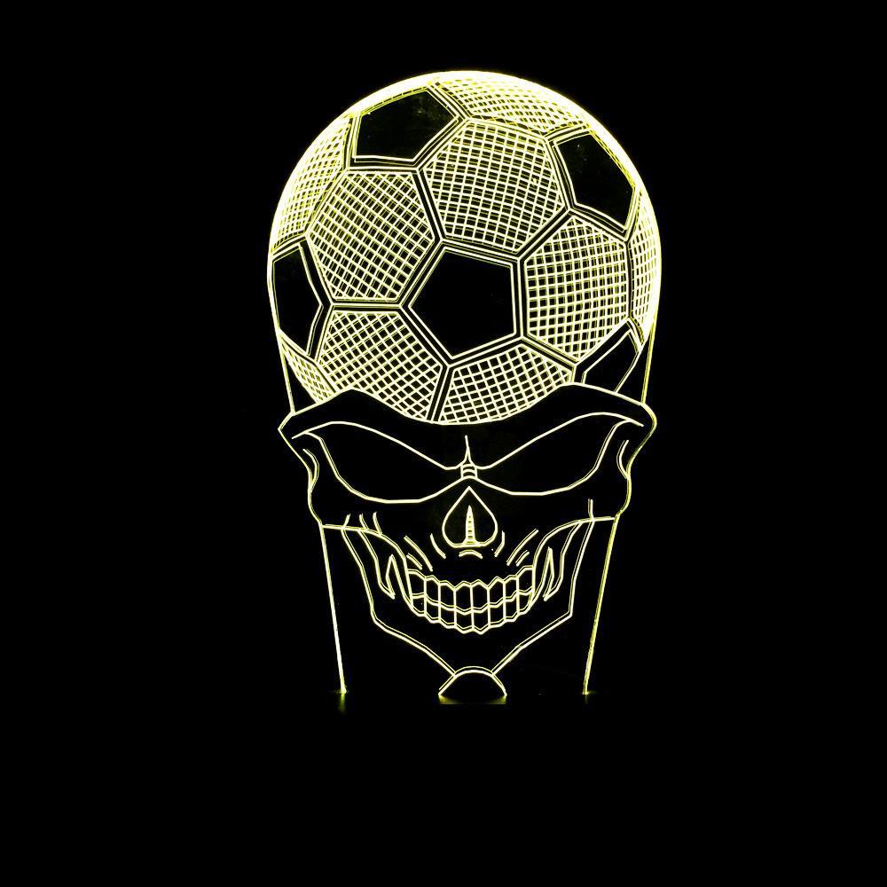 Second Light  Football Human Skeleton 3d Arts Lamp Colorful Small  Night-light Top Football 3d Originality Lamp Vision Lamp