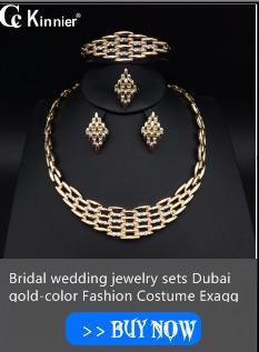 Dubai color oro africana gran perla perla conjuntos de joyas Moda de las mujeres nupcial anillo de boda exagerado collar brazalete pendiente