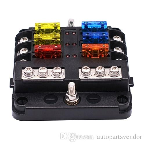 2019 12v 32v plastic cover fuse box holder m5 stud led 2019 12v 32v plastic cover fuse box holder m5 stud led indicator light 6 ways 12 ways blade for auto car boat marine trike from autopartsvendor