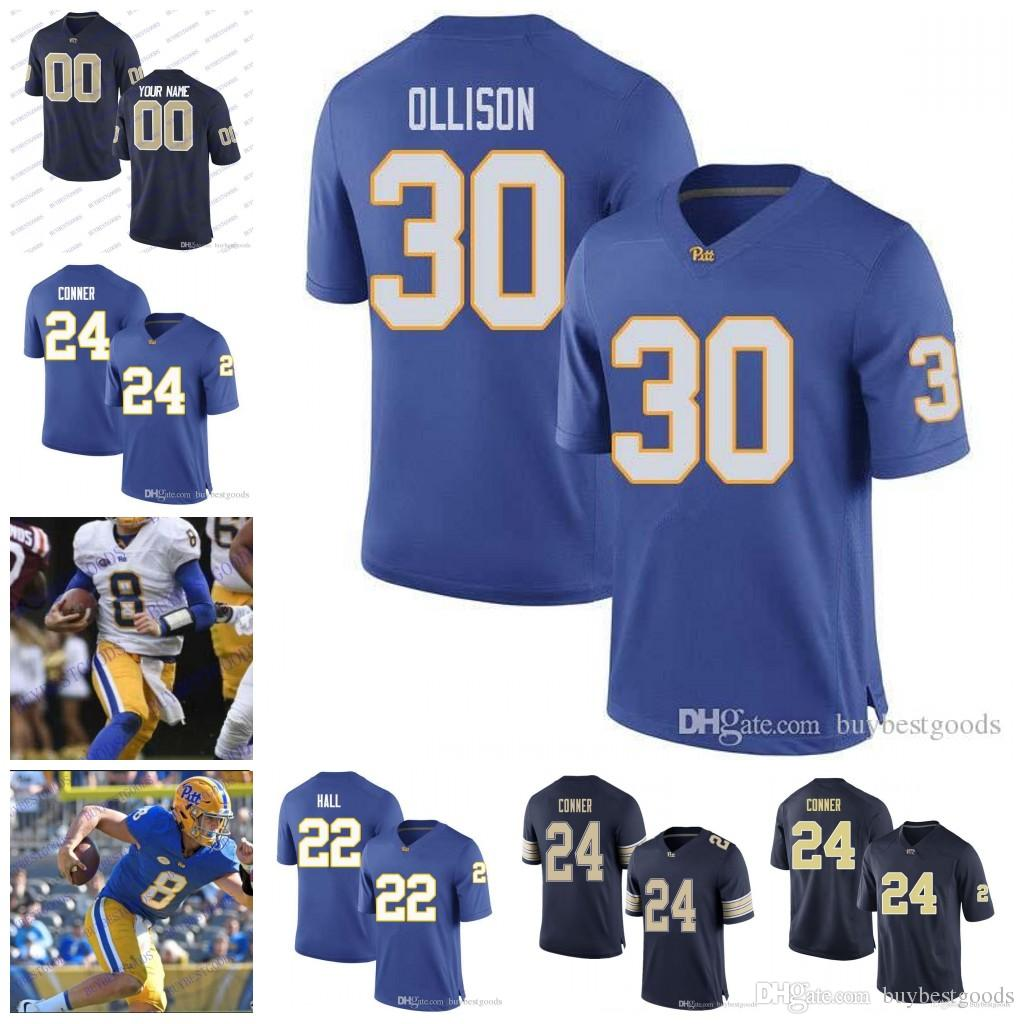 2019 Custom NCAA Pittsburgh Panthers Pitt  30 Qadree Ollison 1 Larry  Fitzgerald 22 Darrin Hall 4 Peterman 7 Savage College Football Jerseys From  ... 6363bf713bc