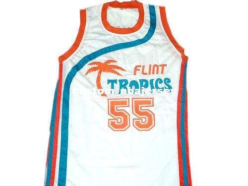 Wholesale Vakidis 55 Flint Tropics Semi Pro Movie Basketball Jersey White  Stitched Custom Any Number Name MEN WOMEN YOUTH BASKETBALL JERSEYS UK 2019  From ... 1658e14d6