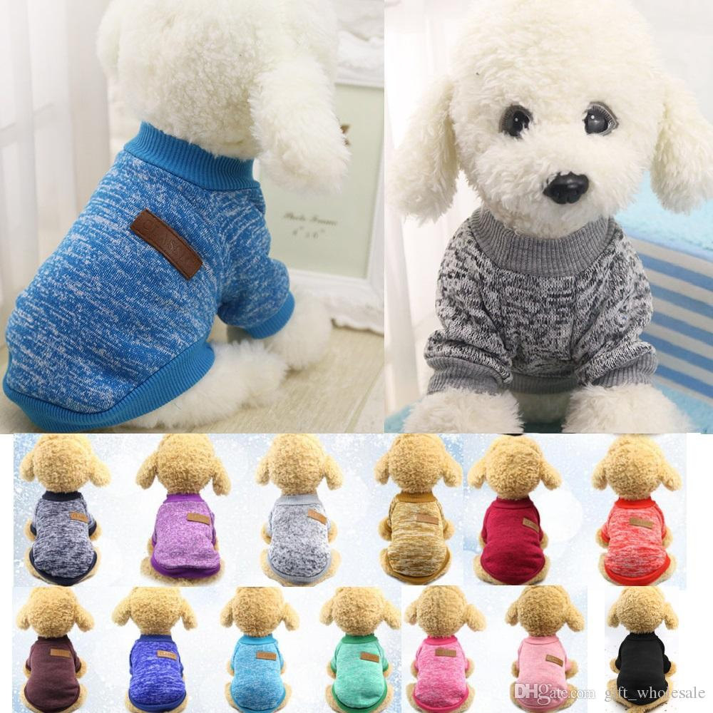 e2d4f2a22 2019 Dog Clothes Autumn Winter Pet Dog Sweater Coat Clothing Warm ...