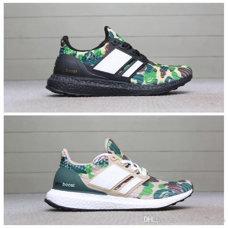 best sneakers 86258 0b7cf Bape X Adidas Ultra Boost Camo Ultra Boost 3.0 4.0 Triple Negro Blanco  Primeknit Oreo Hombre Zapatillas De Running Para Hombre Ultra Boosts  Ultraboost ...
