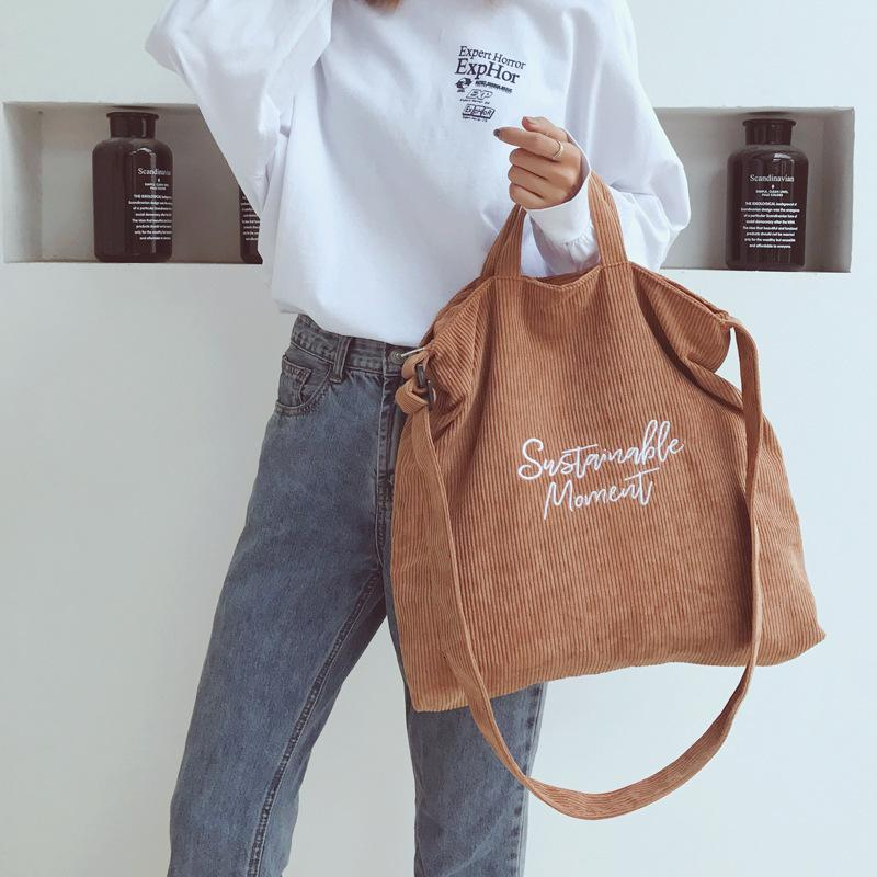 Women's New Letter Tote Bag Vintage College Style One Shoulder Slant Large Capacity Tote Bag Handbag Crossbody Bags For Women