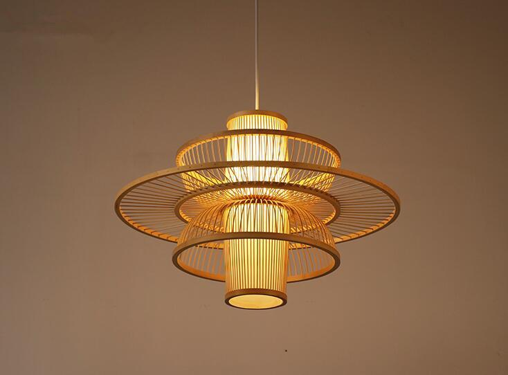 Acquista lampada a sospensione fatta a mano lampadari di bambù