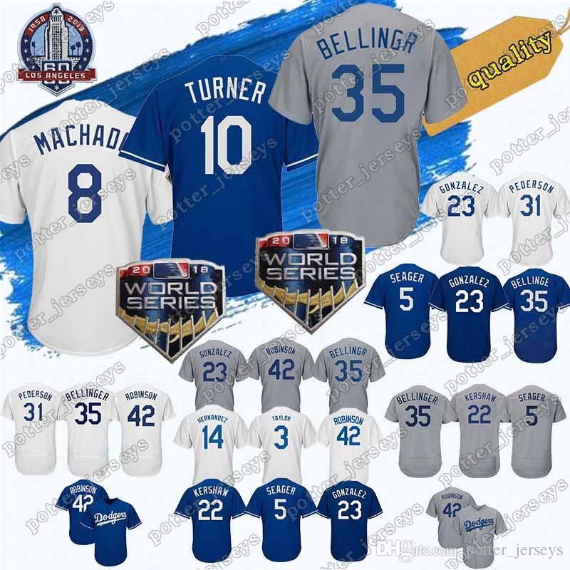 2019 Cheap Sale 8 Manny Machado Los Angeles Dodgers Jerseys 10 Justin  Turner 22 Clayton Kershaw 23 Adrian Gonzalez 66 Yasiel Puig Baseball Jersey  From ... 38ca091802a
