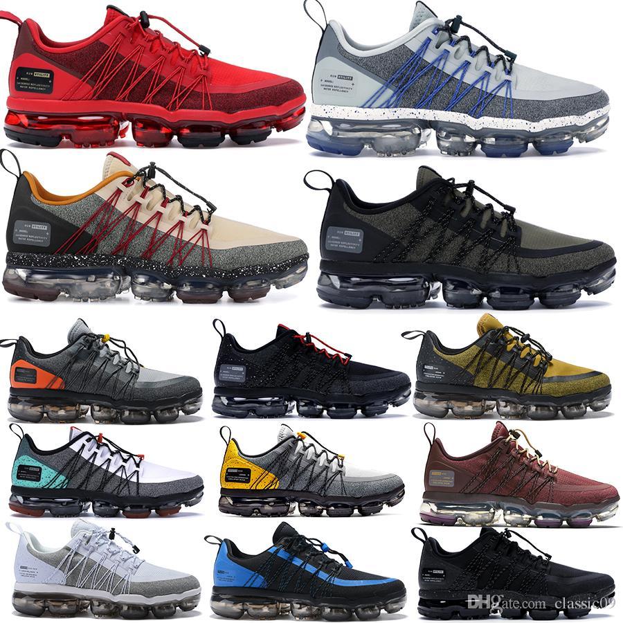 2019 Run Utility Zapatillas de running para hombre Negro Reflect Silver Medium Olive Designer Sneakers Zapatillas de deporte superiores Zapatillas