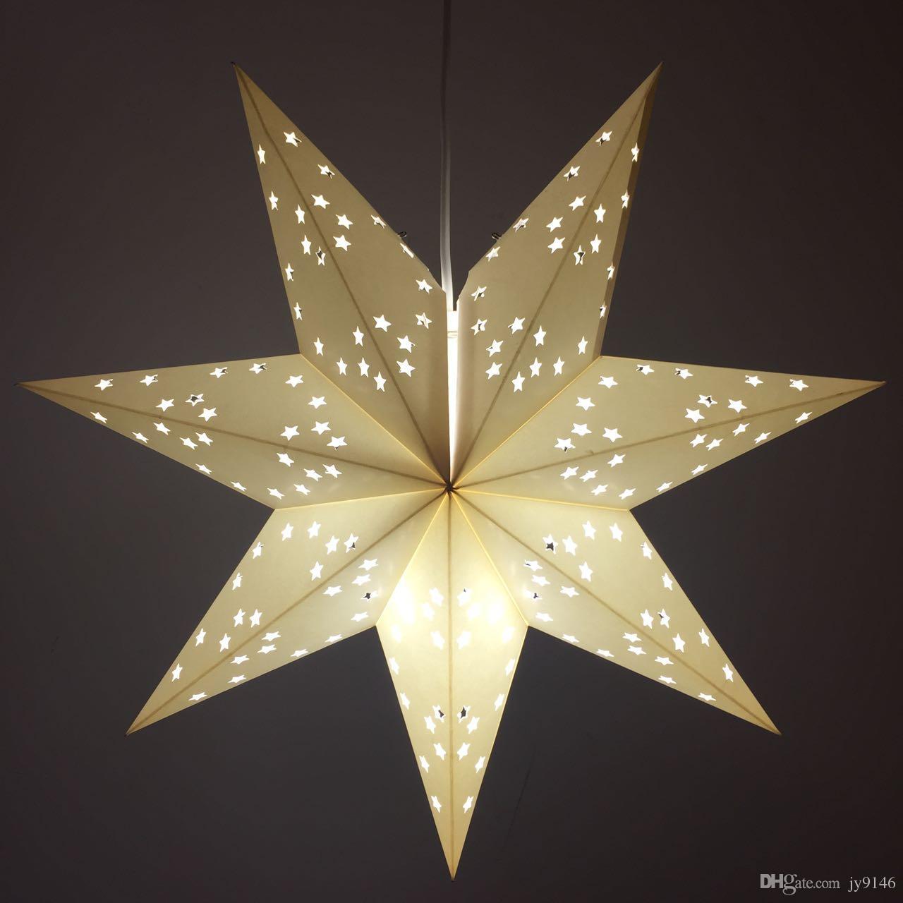 Wholesale Morden Craft Paper Party Pendent Lantern Light Diy Star