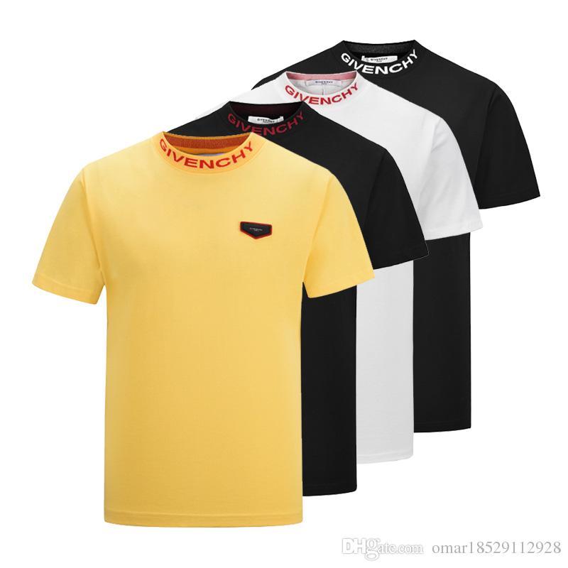 e2274effe71 2019 Summer Luxury Brand Shirt Men s T-shirt Men s Short-sleeved ...