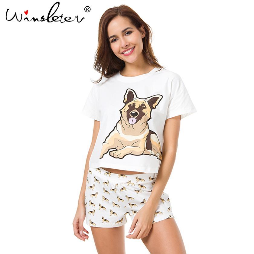 94b0a4db6f09 2019 Ship From The Us Women Pajama Sets German Shepherd Dog Print ...