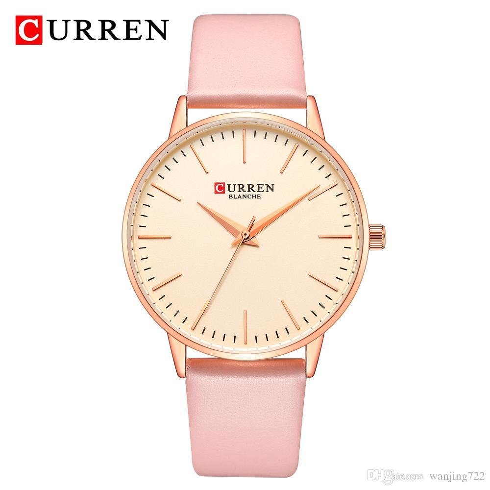 b63500b61 CURREN Brand Women Clock Watch Fashion Leather Wrist Watch Casual Luxury Ladies  Quartz Watches Simple Analog Wristwatch Relogio Feminino Buy Wrist Watches  ...