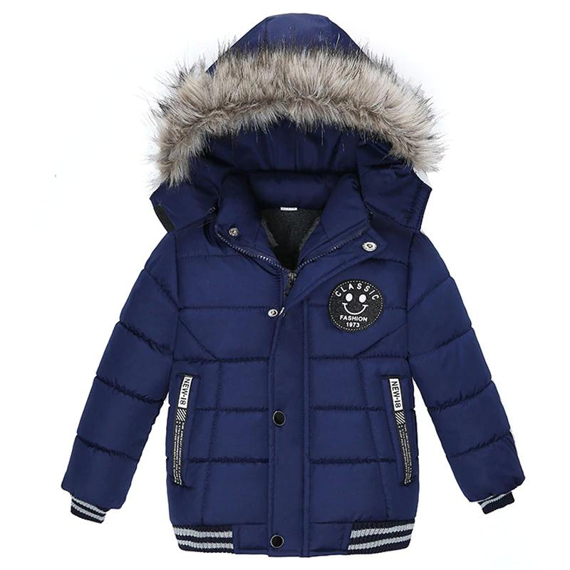 efcb4f8759578 Baby Boys Jacket 2018 Autumn Winter Jackets for Boys Coat Kids Warm Fur  Hooded Outerwear Coats for Boys Clothes Children Jacket