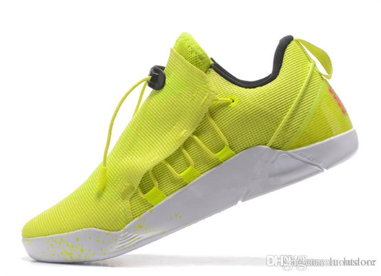 f4983cfccb3345 Cheap 2019 Hot Sale BEST KOBE A.D. NXT 12 12s Men Basketball Shoes KB XII  Zoom Sport Shoes Yellow Blue White Black Wolf Grey Sneakers Luoutdoor