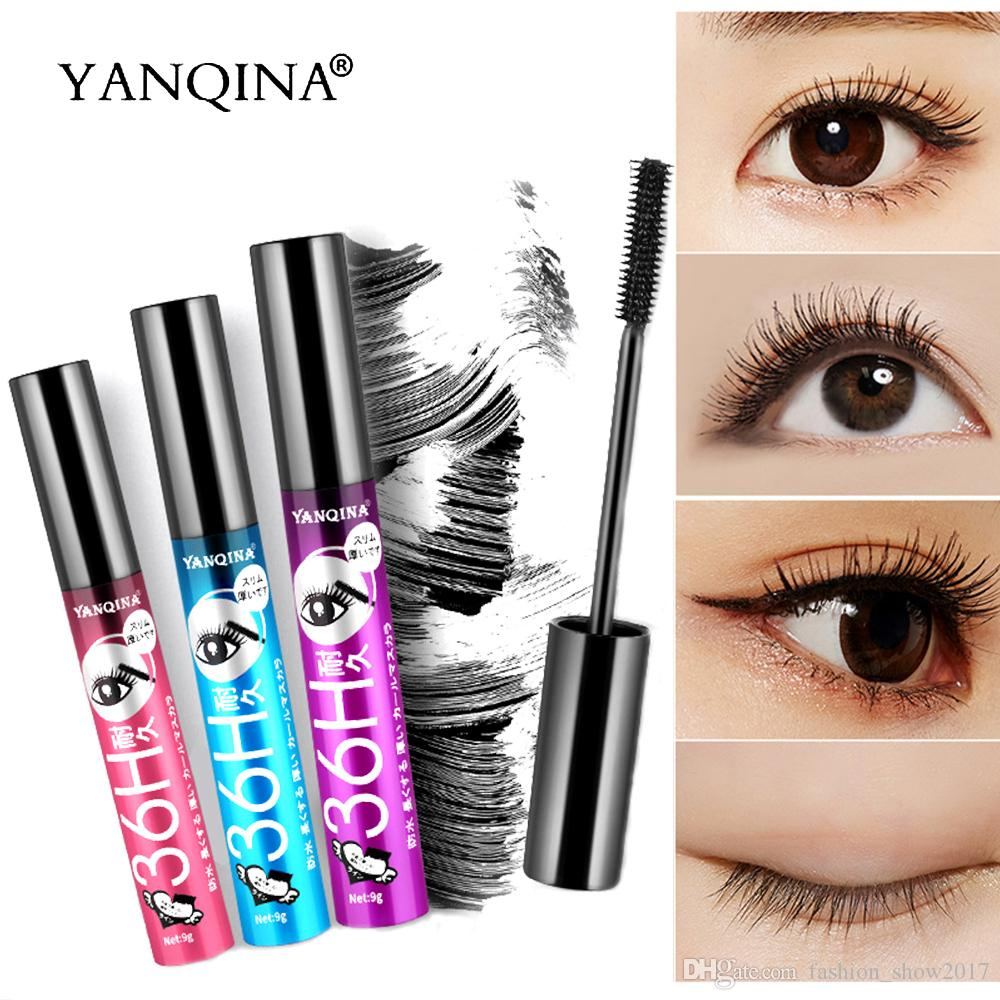 ff1bce826f0 YANQINA 36H Black Mascara Waterproof 3D Silk Fiber Eyelash Mascara Thick Lengthening  Mascara Eyes Lash Extension Beauty Tools Permanent Makeup Airbrush ...