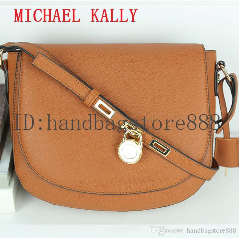 aff4a8a02cbd High Quality Lock Handbag Fashion Women Famous Brand MICHAEL KALLY  Crossbody Bag Luxury Designer Saddle Purse Lady Hasp Message Bags Female  Purses Designer ...