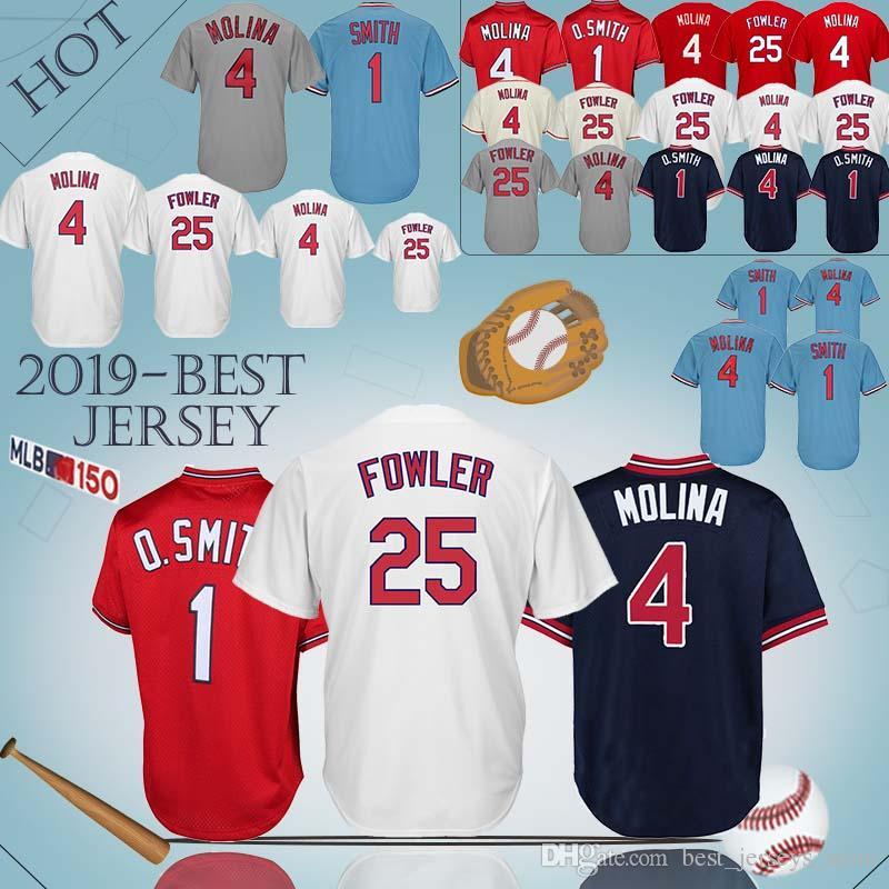 2ea551ee7be2 2019 St. Louis Jerseys Cardinals 4 Yadier Molina 25 Dexter Fowler ...