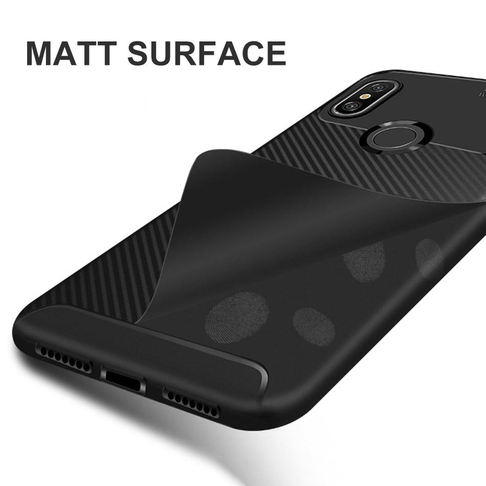 sale retailer bee85 03953 For Xiaomi Redmi Note 6 Pro Redmi 6 Pro Cases Silicone Carbon Fiber  ShockProof Soft TPU Case Redmi Note6 Pro Cover