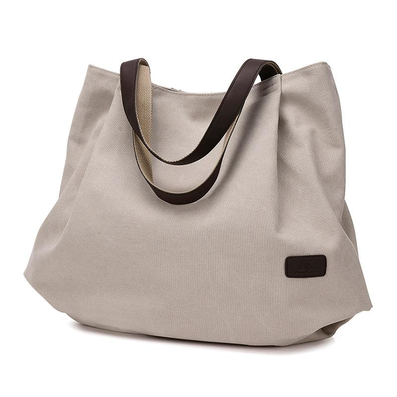 e9f14d8e388f New Arrive Canvas Women Handbag School Book Bags For Teenage Girls Travel  Organizer Female Totes Purse Hobos Beach Bags Pt1231 Handbags Brands Womens  ...