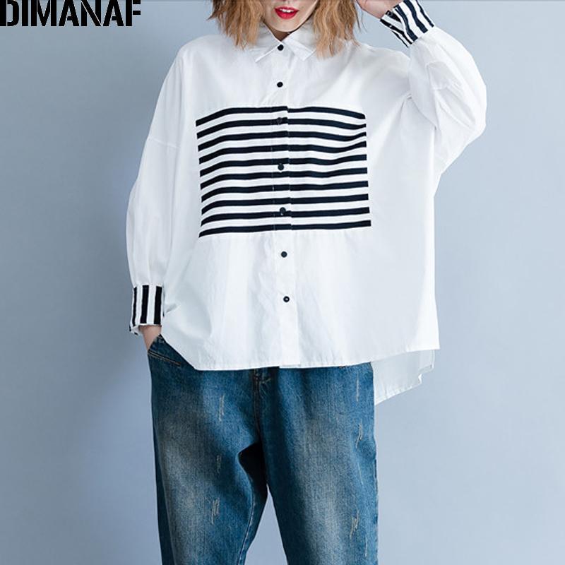 612539637f 2019 Dimanaf Women Blouse Shirt Female Basic Tops Clothes Cotton ...