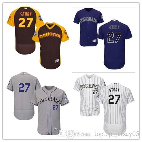 cheap for discount 51e8b ae8e5 2018 can Colorado Rockies Jerseys # 27 Trevor Story Jerseys  men#WOMEN#YOUTH#Men s Baseball Jersey Majestic Stitched Professional  sportswear
