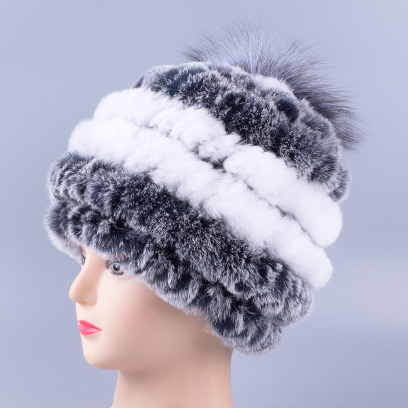 a2ecad54c1a Rabbit Fur Hat Female Winter Rex Rabbit Fur Hat Winter Warm Mother ...