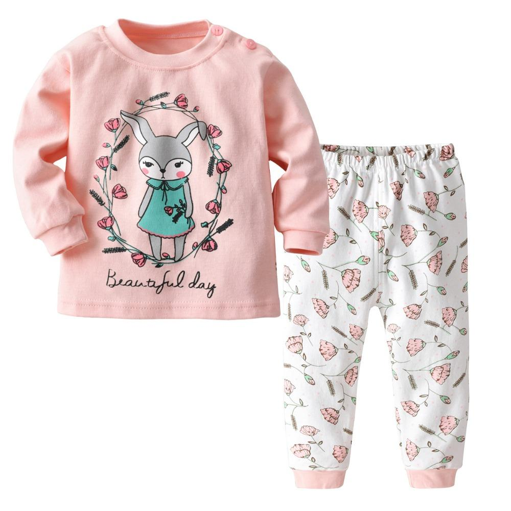 905b6e568bd4 2018 New Cartoon Sleepwear Sets Pajama Boy Kids Baby Long Sleeve ...