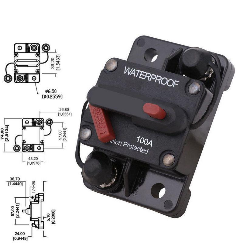 100A 12V//24V//48V Automatic over-current DC circuit breaker//switch
