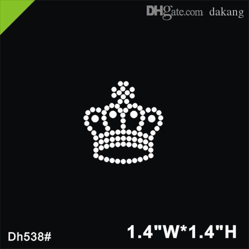 16c915ab50 Free shipping Crown design hot fix rhinestone,heat transfer design iron on  rhinestones motif embellishment DH538#