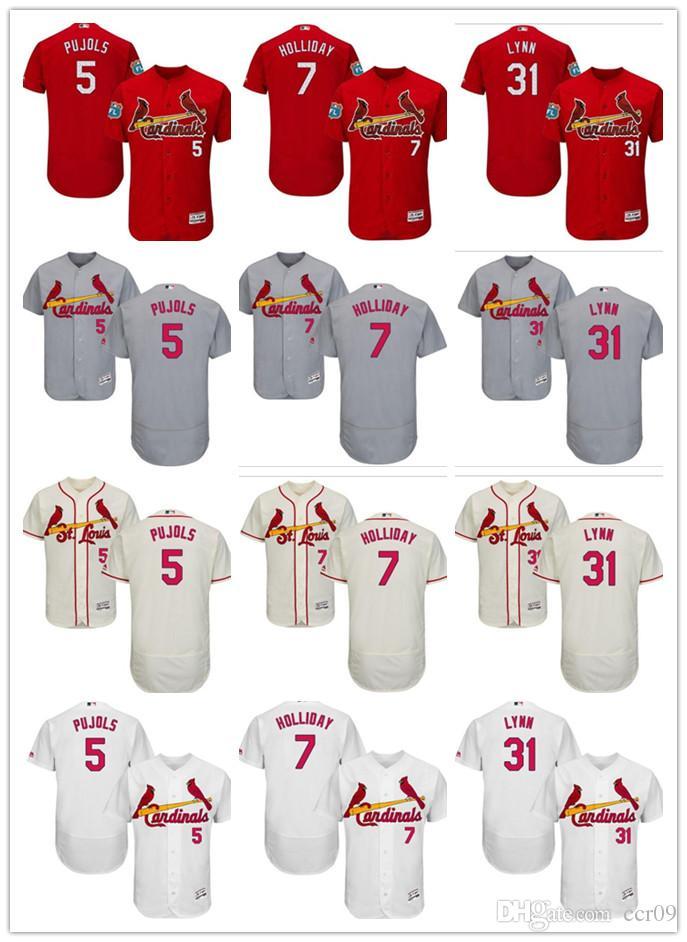 brand new eca47 17d8d custom Men's Women Youth St. Louis Cardinals Jersey #5 Albert Pujols 31  Lance Lynn 7 Matt Holliday Home Red White Grey Baseball Jerseys