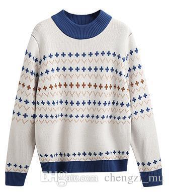Compre Dulce Encantador Viento Suéter Mujer 2018 Nuevo Invierno Perezoso  Brisa Jersey Suelto Moda Estudiante Suéter De Punto A  95.48 Del Chengzi mu  ... 0efb12b8c41f