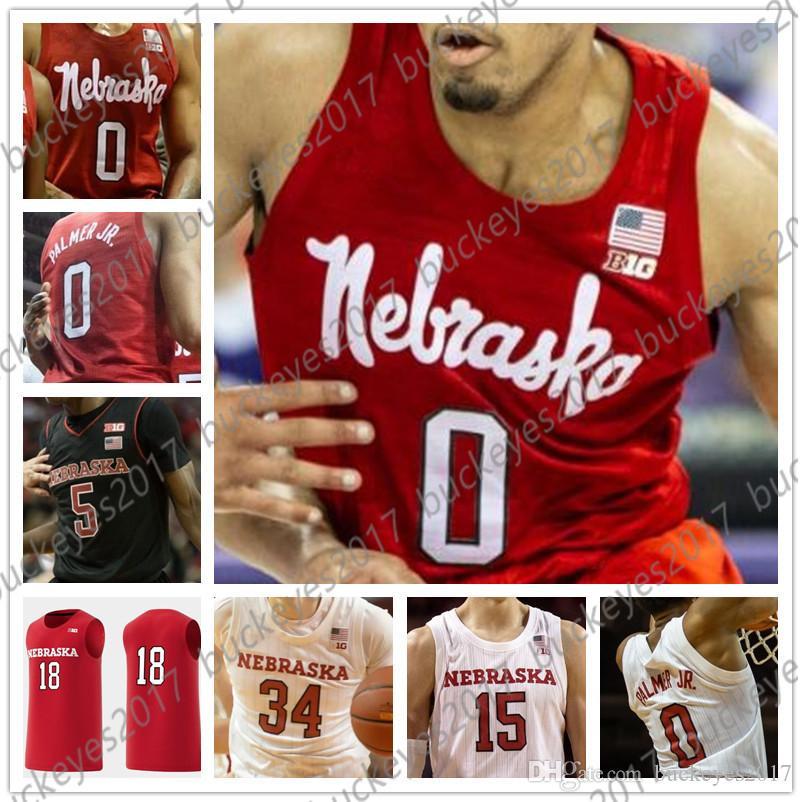 low priced d3ec0 28ad5 Custom Nebraska Cornhuskers Basketball Black Red White Any Name Number  Jerseys #0 James Palmer Jr. 14 Isaac Copeland 5 Glynn Watson Huskers